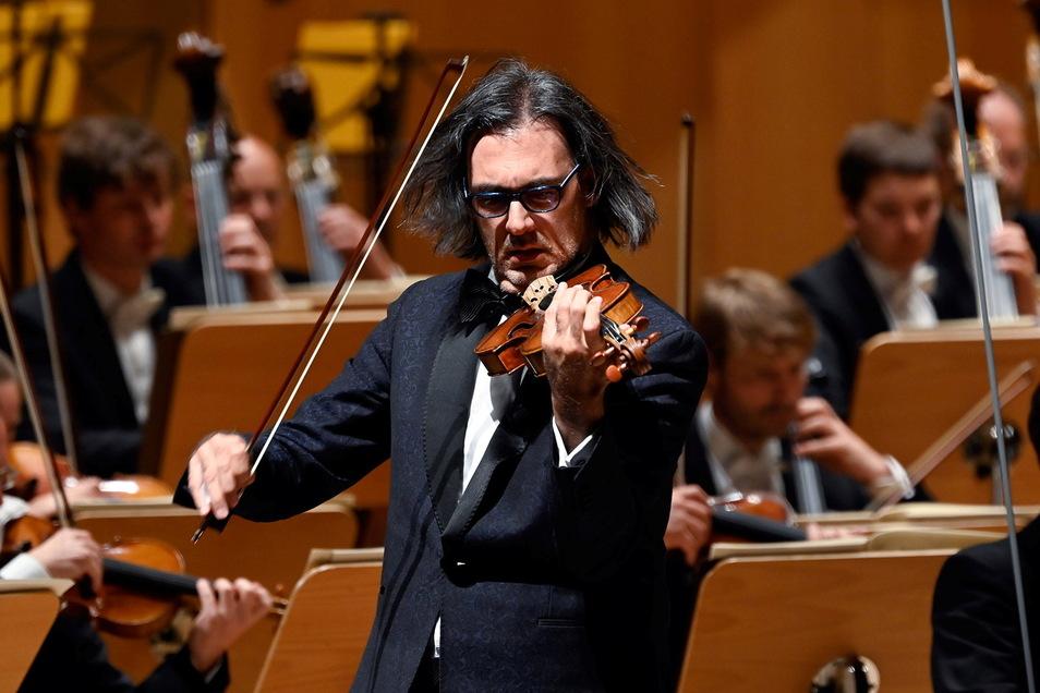Der Geiger Leonidas Kavakos beim Konzert im Kulturpalast.