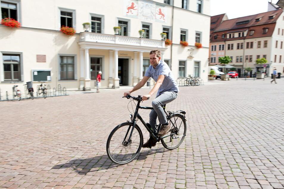 Pirnas Klimaschutzmanager Thomas Freitag: Ohne diese Stelle bräche die Klimaschutzarbeit der Stadt zusammen.