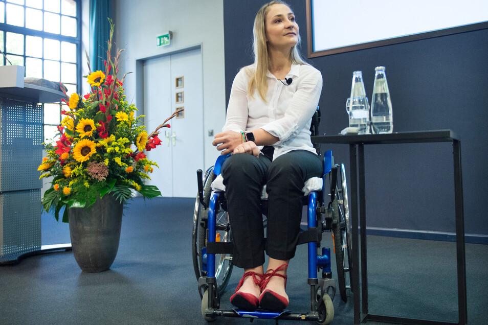 Eine Kämpferin: Kristina Vogel spricht erstmals nach ihrem schweren Unfall über ihre Zukunft.