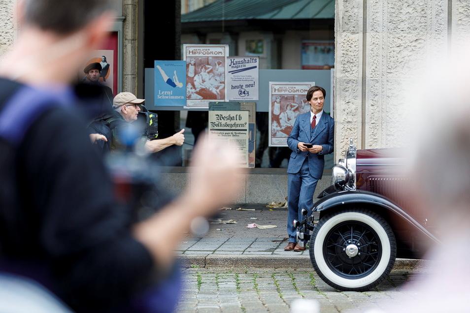 """Der Film """"Fabian"""" spielt 1931. 2019 wurde dafür unter anderem am Görlitzer Kaufhaus gedreht."""