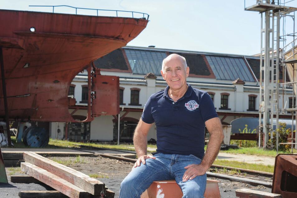 Reinhard Saal rettete die Werft Laubegast aus der Insolvenz.