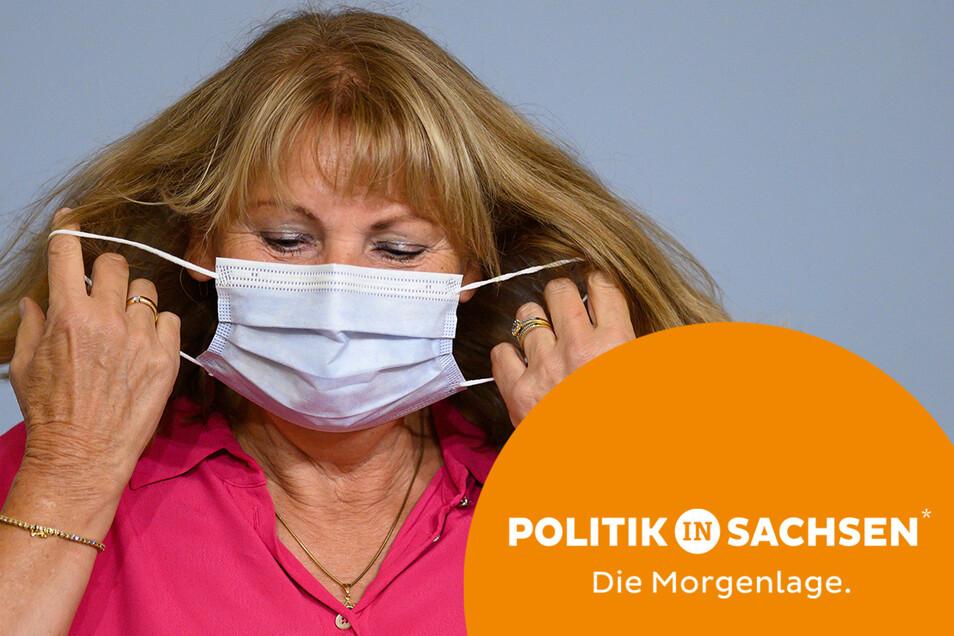 Sachsens Gesundheitsministerin Petra Köpping stellte am Dienstag die neue Corona-Verordnung vor.