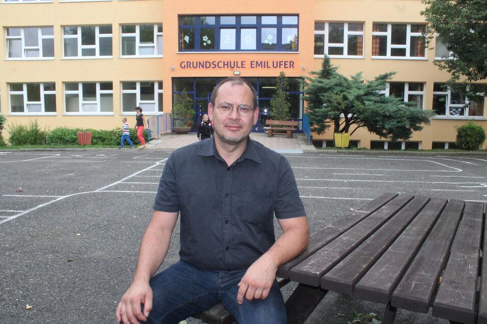 Gordon Alisch leitet seit diesem Schuljahr die Grundschule in Olbersdorf.