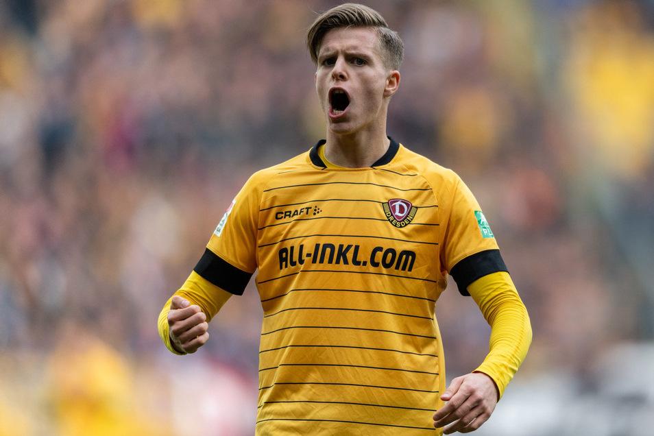Sein bislang letzter Einsatz für Dynamo: Dzenis Burnic gehörte im Sachsenderby gegen Erzgebirge Aue am 8. März zur Startelf.