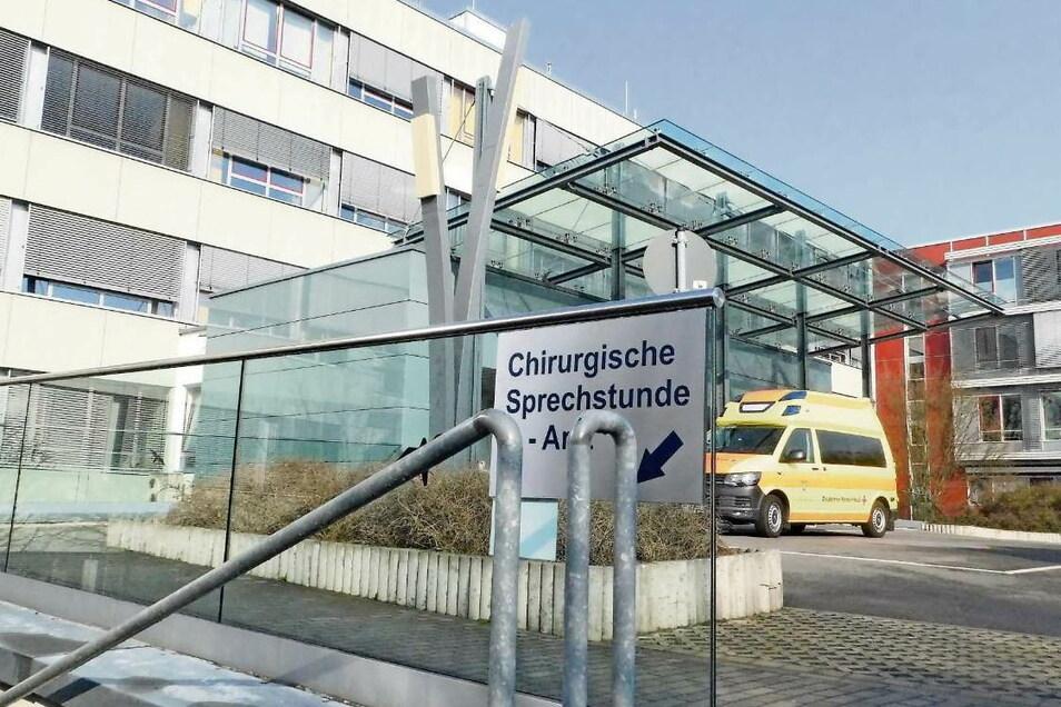 Das Krankenhaus Weißwasser.