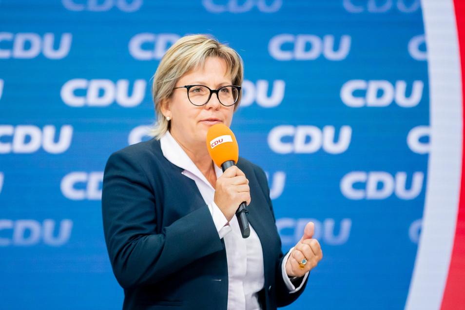 """Barbara Klepsch (CDU), sächsische Kulturministerin, bei der Vorstellung des """"Zukunftsteams"""" der Union in der CDU-Parteizentrale"""