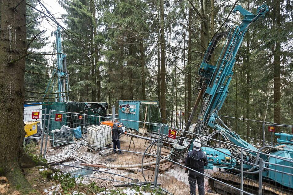 2018 liefen in Sadisdorf noch Erkundungsbohrungen bis in eine Tiefe von fast 300 Meter. Jetzt haben die Eigentümer der Lizenz ihr Projekt auslaufen lassen.