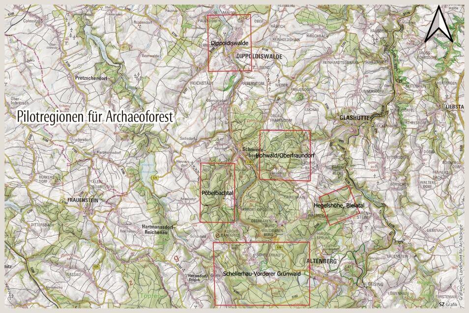 Fünf Regionen im Osterzgebirge stehen bei dem Forschungsprojekt im Fokus.