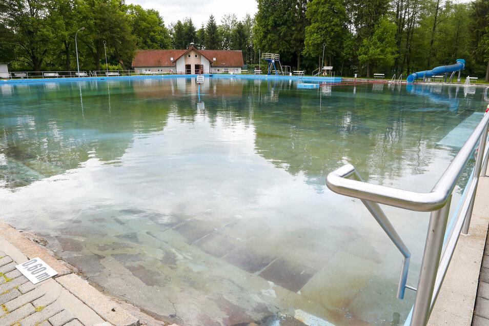 Das Freibad in Oppach.
