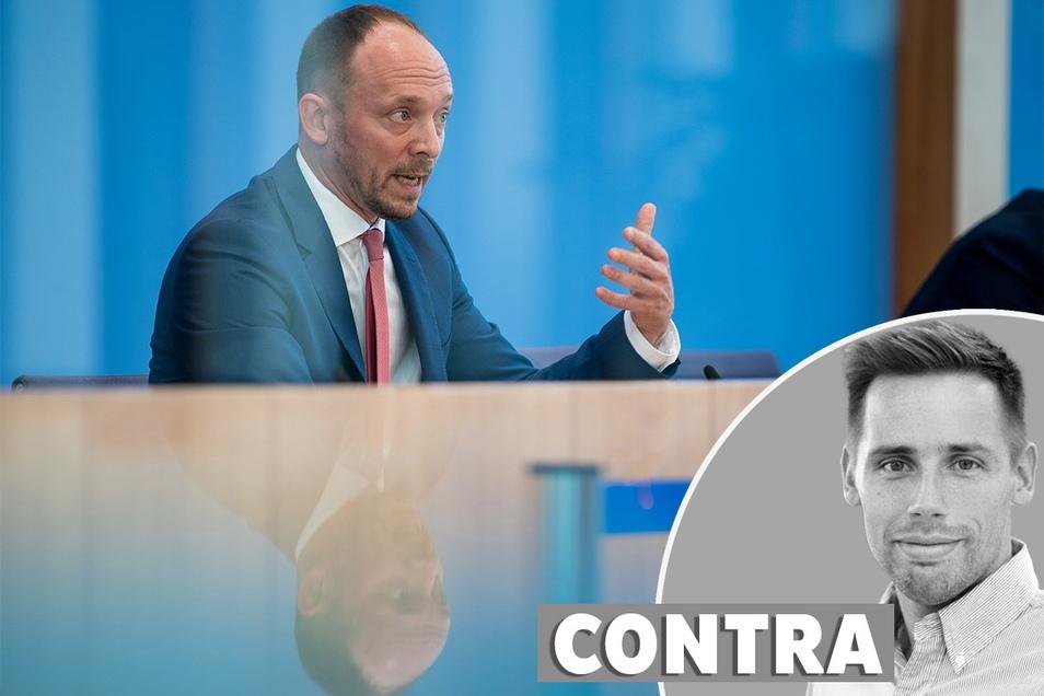 Florian Oest, Chef der Jungen Union Sachsens, tritt bei der Bundestagswahl gegen AfD-Chef Chrupalla an.
