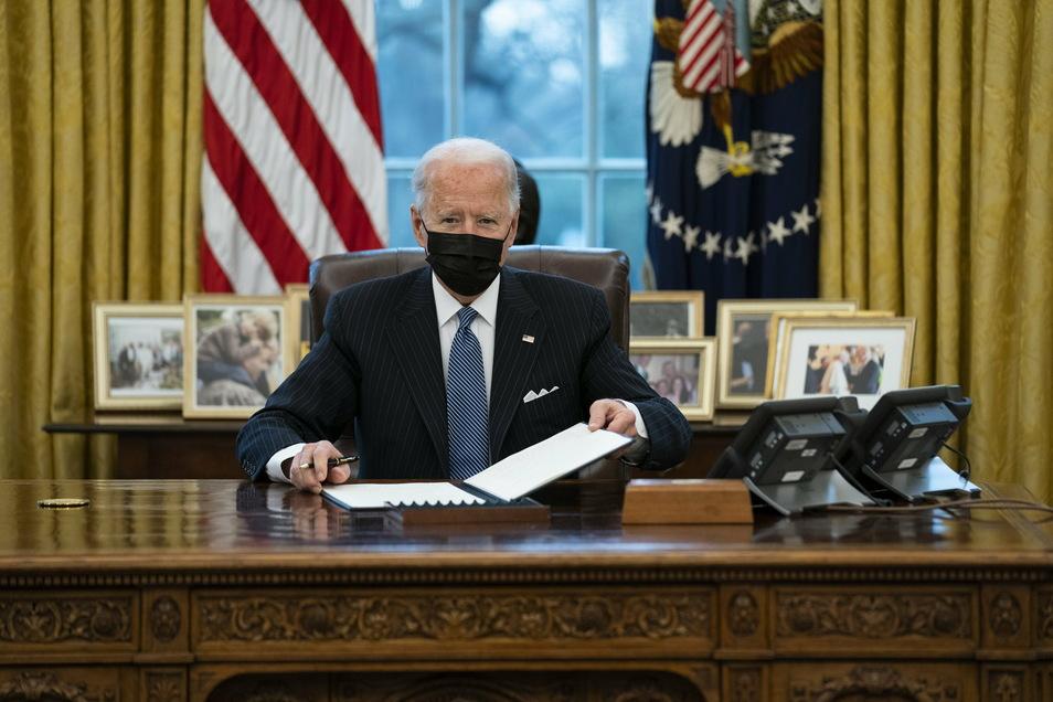 Der neue US-Präsident Joe Biden hat sich zur Nato und zur Zusammenarbeit mit den Bündnispartnern bekannt.
