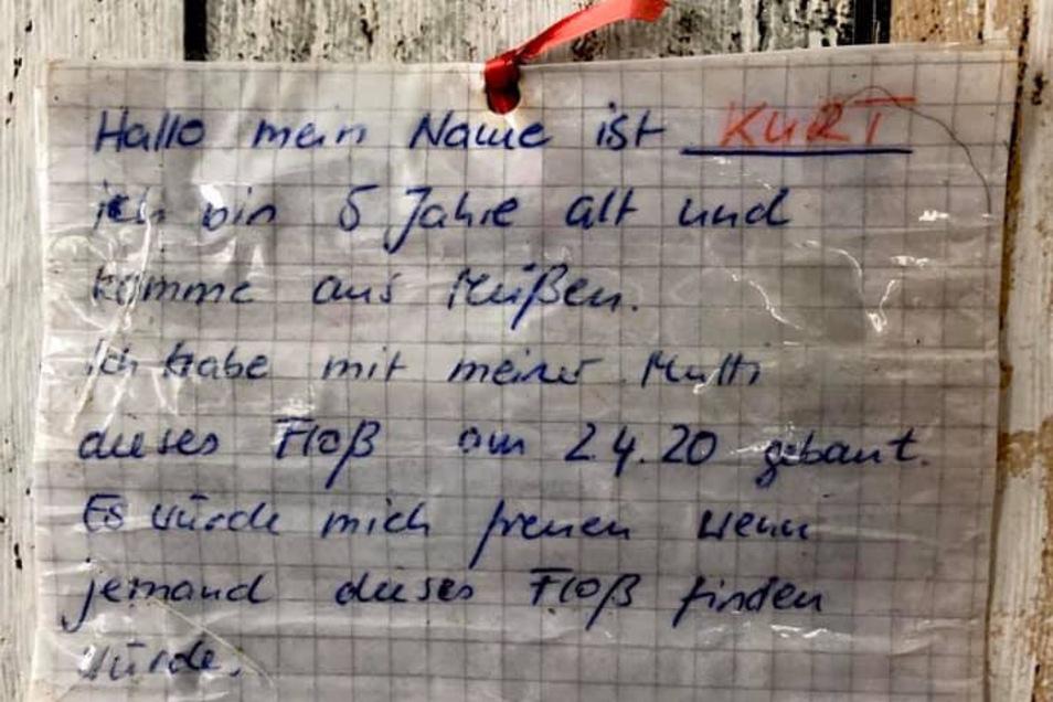 Die Botschaft eines kleinen Jungen aus Meißen verbreitet Hoffnung entlang der Elbe.