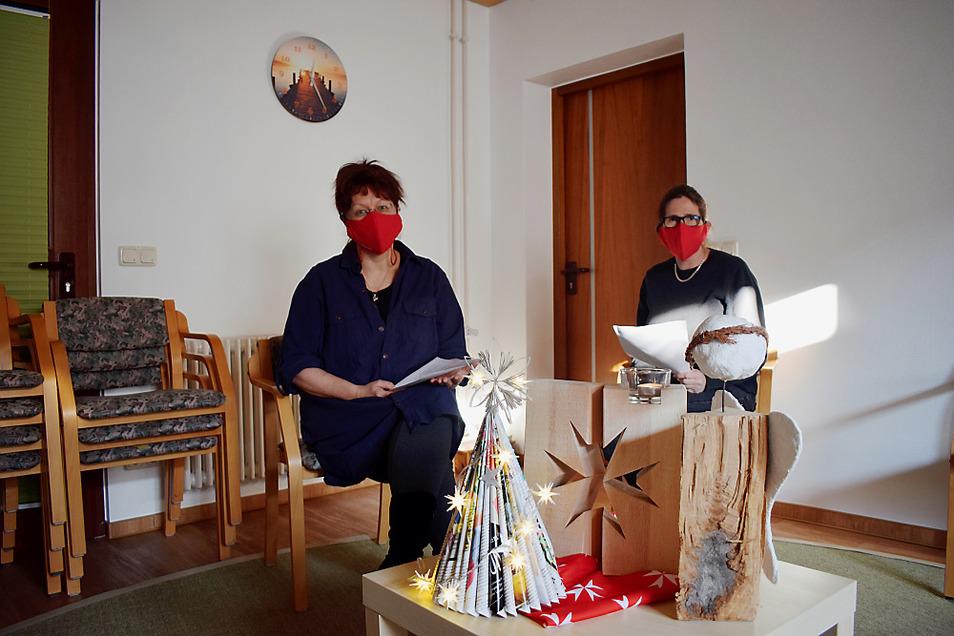 Die Dienststelle in der Merzdorfer Straße bietet Platz für Gruppentreffen und den Trauerkreis, aber zurzeit wird der Kontakt auf anderem Wege gehalten. Lydia Richter (l.) und Sabine Mischner koordinieren gemeinsam den Ambulanten Hospizdienst.