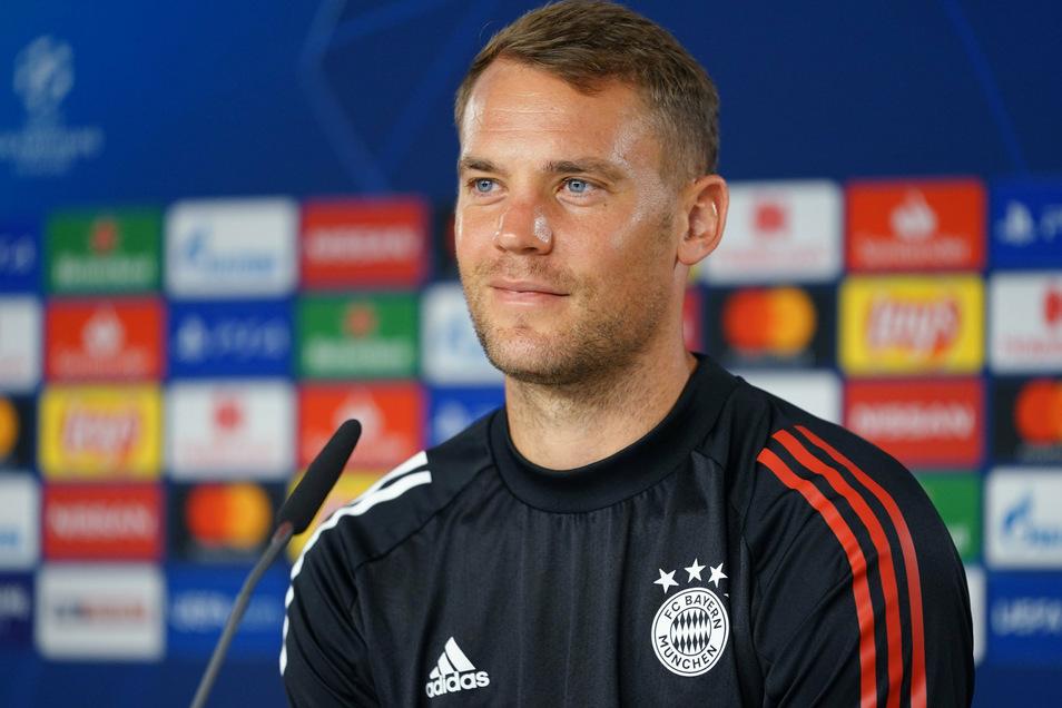 """""""Wir sind voll im Saft"""", sagt Bayern-Kapitän Manuel Neuer vor dem Ernstfall gegen den FC Chelsea."""