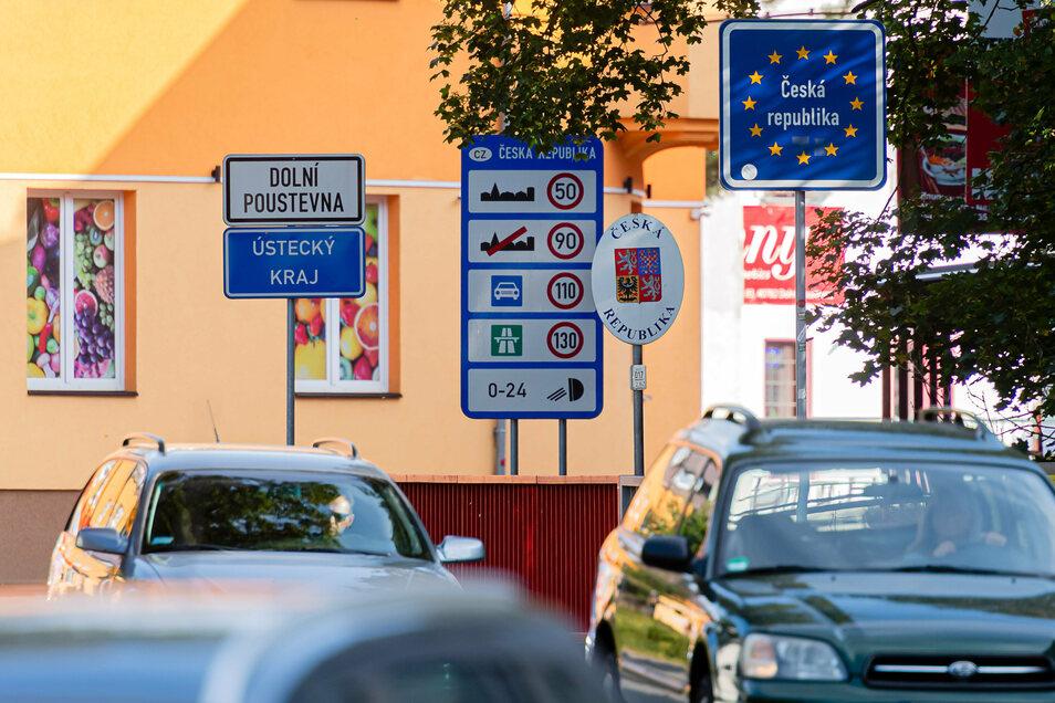 Wer am Grenzübergang in Sebnitz aus Tschechien einreist, muss in Quarantäne.