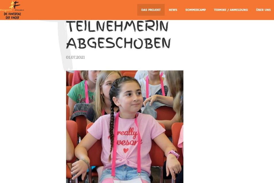 Auf ihrer Website fordern die Konferenz der Kinder und das Klangnetz Dresden, dass Lika und ihre Familie nach Deutschland zurückkehren dürfen.
