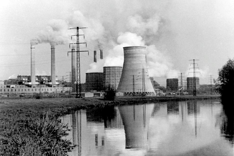 Das Hirschfelder Braunkohle-Kraftwerk ging Ende 1992 außer Betrieb.