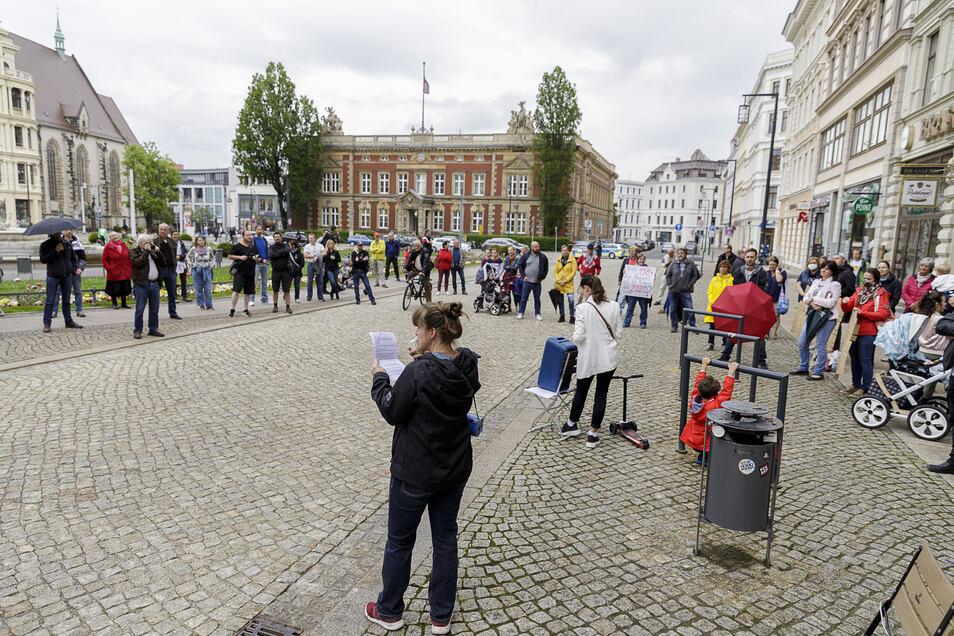 Protest auf dem Postplatz gegen die Corona-Beschränkungen.