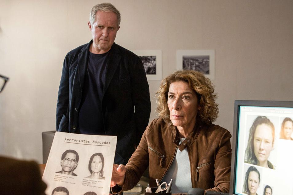 """Kommissar Moritz Eisner (Harald Krassnitzer) und seine Kollegin Bibi Fellner (Adele Neuhauser) in einer Szene des """"Tatort: Krank""""."""