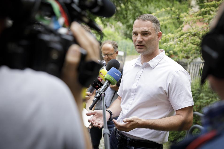 Sebastian Wippel im Frühsommer 2019 als Görlitzer OB-Kandidat