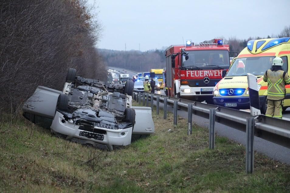 Unfall auf der A4.