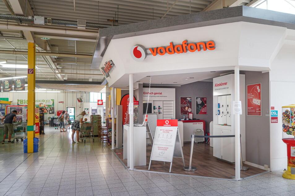 Seit Herbst vergangenen Jahres ist der Vodafone-Shop im Bautzener Marktkauf-Center geschlossen. Er gehört zu einem Leipziger Händler, den Corona in die Insolvenz zwang.