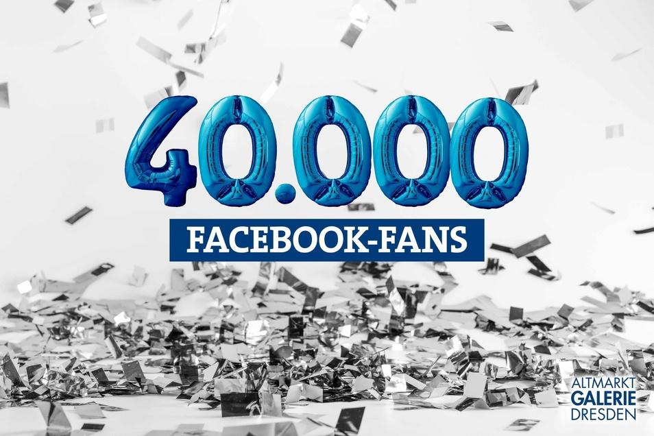 Mit einem Gewinnspiel bedankte sich die Altmarkt-Galerie bei ihren mittlerweile 40.000 Facebook-Fans.