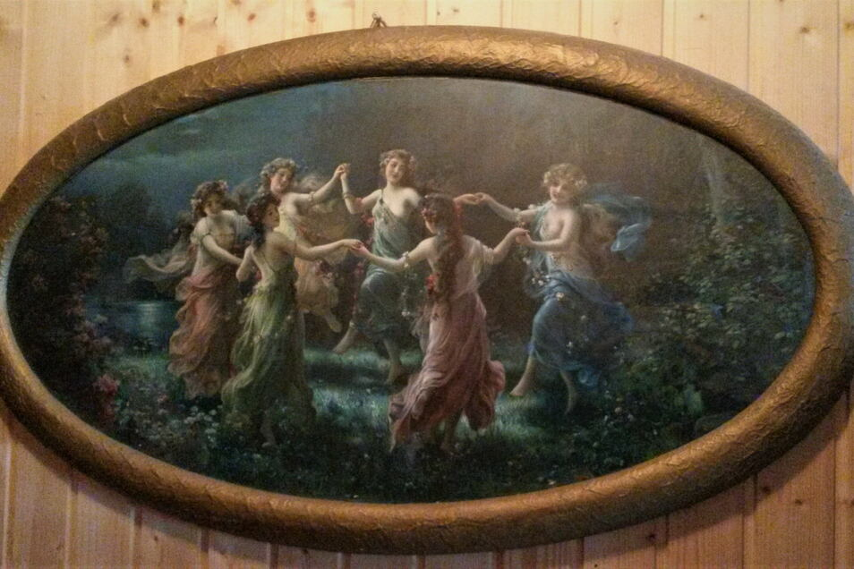 Lithographie fürs Volk: Der Elfenreigen hing in den 1920ern über vielen Ehebetten. Heute hängt er in Ekkehard Schneiders Werkstatt.