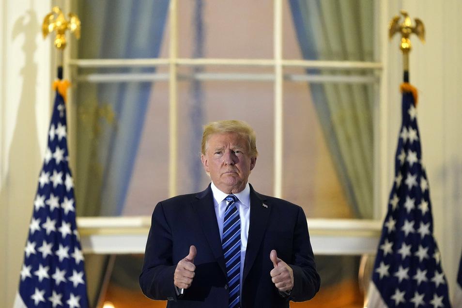 """""""Haben Sie keine Angst vor Covid"""" sagte US-Präsident Trump nach seiner Rückkehr ins Weiße Haus."""