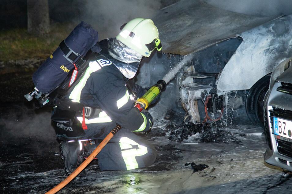 Wieder brannte ein Auto in Bischofswerda.