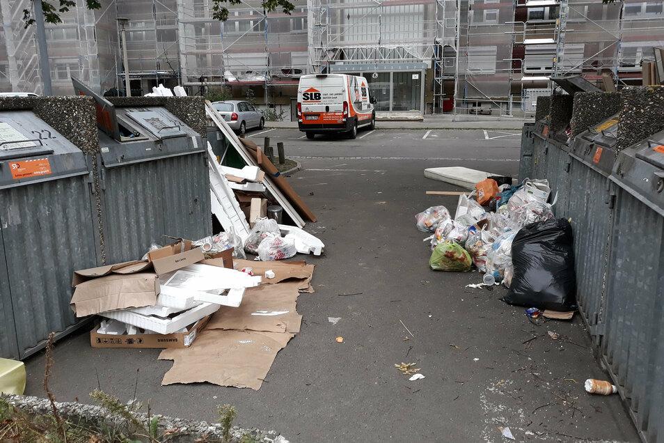 Die Müllanlage am 29. August.