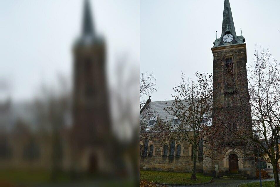 Die evangelische Friedenskirche in Grottau.