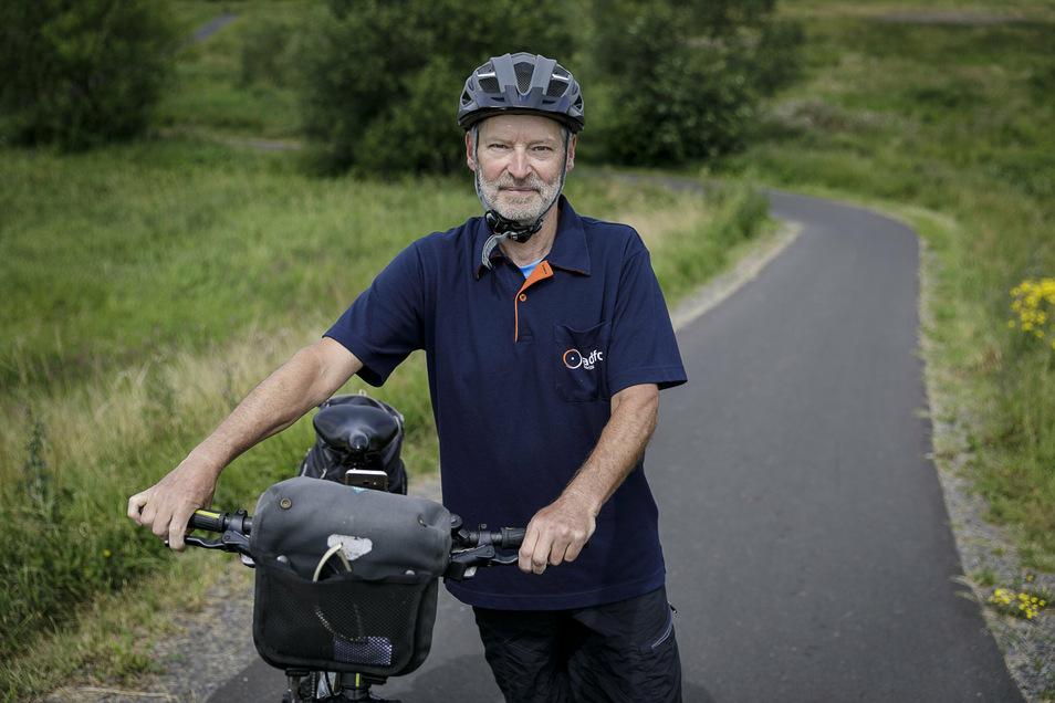 Peter Schellin aus Görlitz ist Mitglied im ADFC. Der Verein befragt derzeit Fahrradfahrer, wie sie die Lage einschätzen.