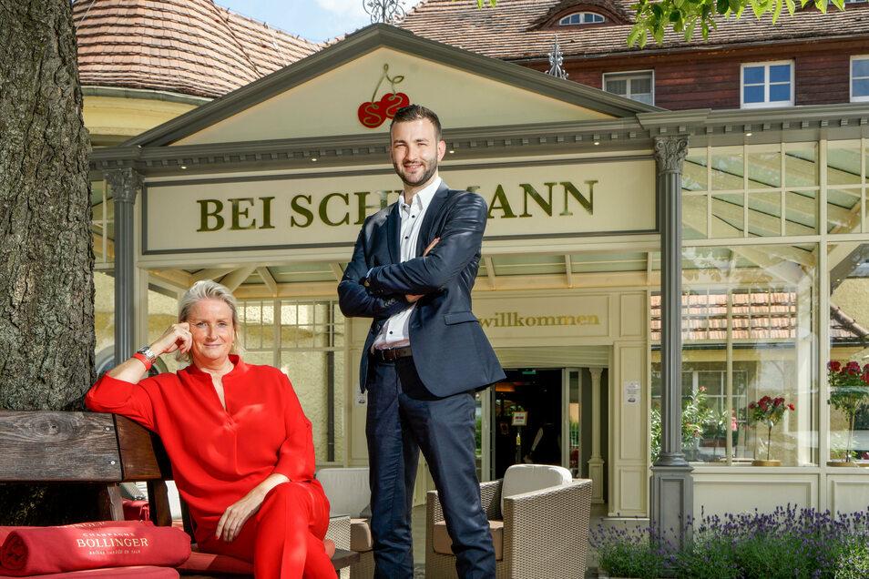 Ab sofort bildet Petra Schumann gemeinsam mit Sohn Frederik Nebrich die neue Spitze im Wellness-Hotel Bei Schumann in Kirschau.