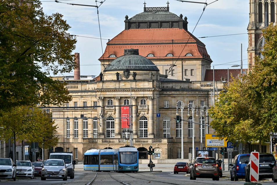 Blick auf das Opernhaus im Zentrum. Alltagskultur lautet das Stichwort der Chemnitzer Kulturhauptstadtbewerbung, mit der sich die Stadt gegen die Mitbewerber durchsetzen will.