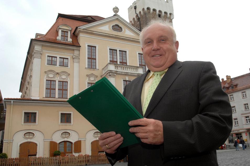 Löbaus Oberbürgermeister Dietmar Buchholz.