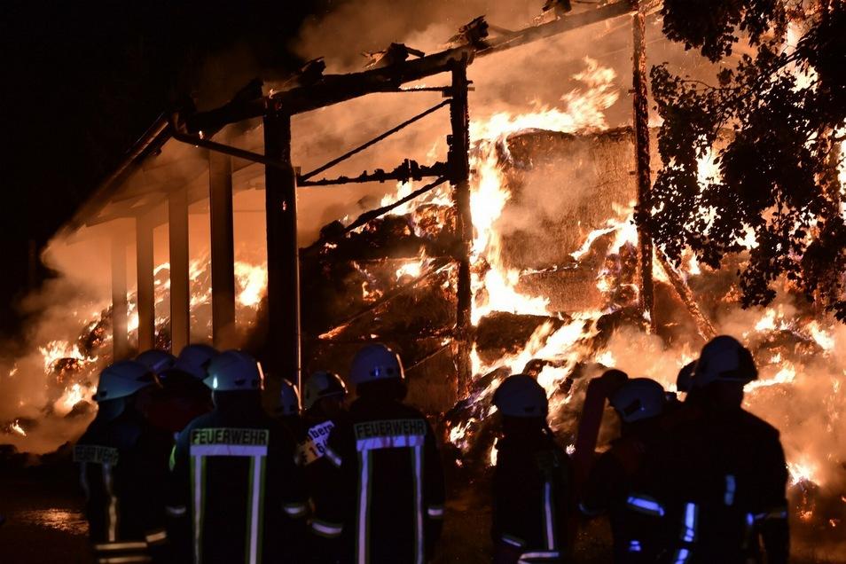 Etwa 80 Feuerwehrleute rückten zum Einsatz aus.