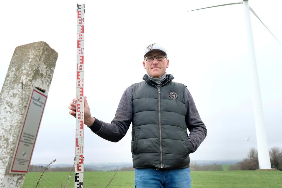 Der Nossener Hobby-Geologe Axel Schulze meint, die höchste Erhebung des Landkreises Meißen liegt in Nossen-Augustusberg.