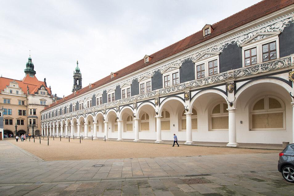 Im Obergeschoss des Stallhof-Gebäudes wurde der Lange Gang restauriert.