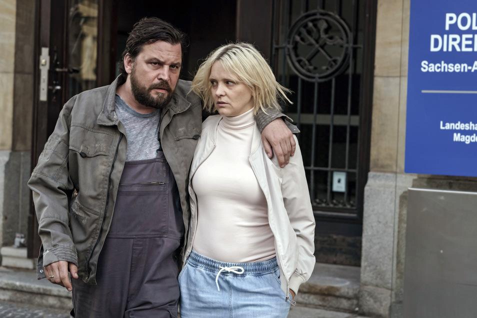 Unberechenbar und kreuzgefährlich: Das Ehepaar Wegner, gespielt von Sascha Gersak und Laura Tonke.