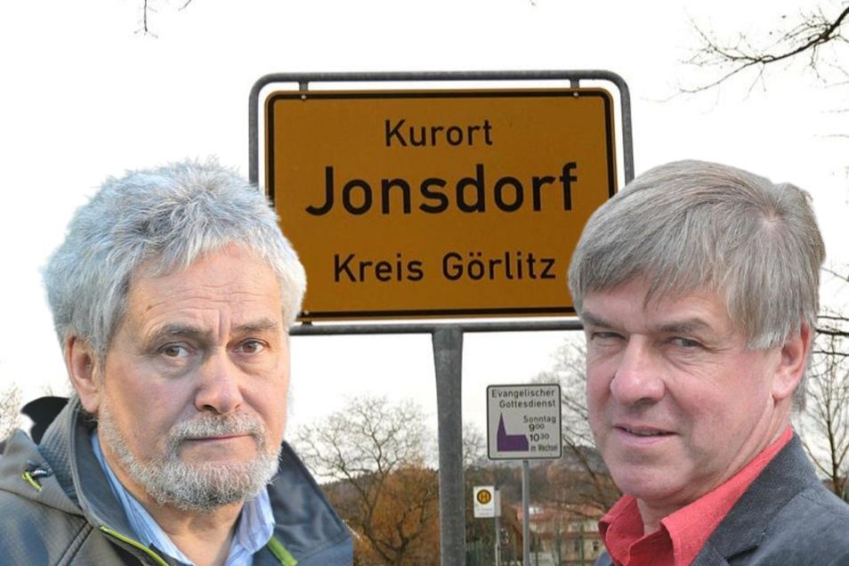 Christoph Kunze (links) darf nicht zum Ehrenbürger ernannt werden - Horst Zimmermann (rechts) will es nicht.