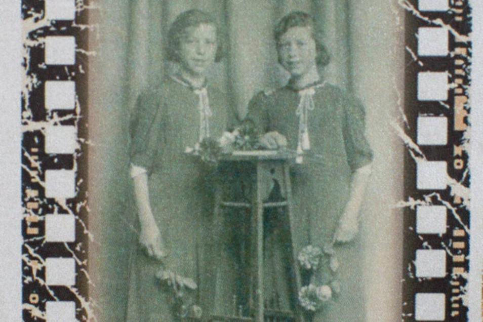 Immer gemeinsam und kaum zu unterscheiden: Ingeborg (l.) und Gertraude bei ihrer Konfirmation 1940.