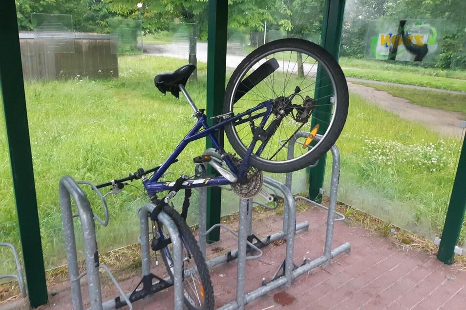 So hat der Besitzer das Fahrrad aufgefunden.