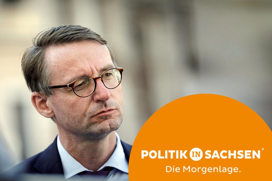 Vom Innenminister zum Finanzminister? Bei Sachsens CDU wird über einen Personalwechsel diskutiert.
