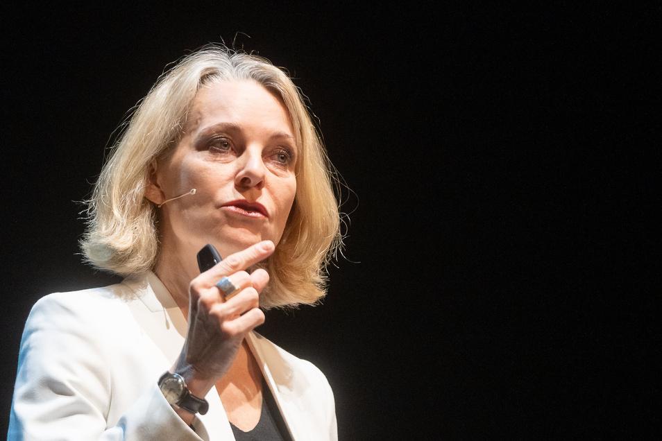 Miriam Meckel bei ihrer Dresdner Rede.