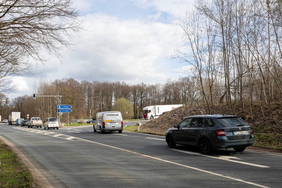 Die Autobahnauffahrt in Fahrtrichtung Leipzig und Chemnitz soll verlegt werden.