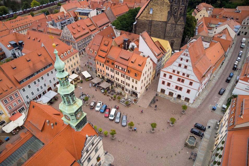 Blick auf den Pirnaer Markt: Der Schleichweg zum Sonnenstein wird gekappt.