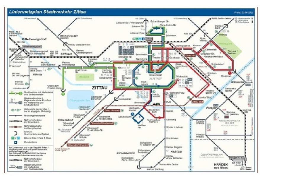Das ist der Vorschlag des Landkreises für den künftigen Netzplan des Zittauer Stadtverkehrs.