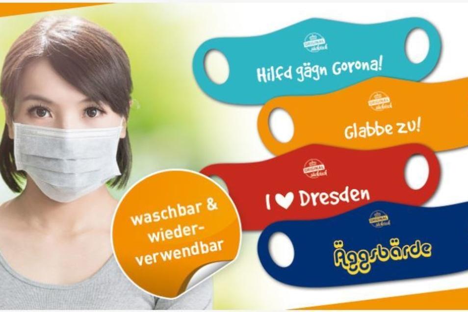 Sie sind der Renner: unserer Masken mit augenzwinkernden Sachsen-Sprüchen auf ddv-lokal.de
