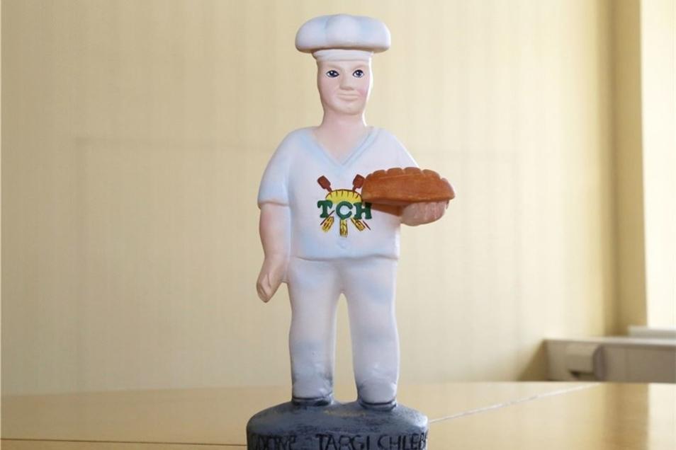 Die Bäckerfigur ist ein Gastgeschenk aus Jawor. Die polnische Partnerstadt ist bekannt für ihre Brotbacktradition.